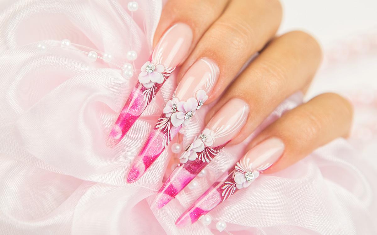 Acrylic Nails Services – Violet Nails Design – Professional Nail ...